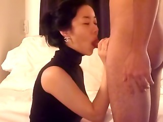 interracial asian blowjob