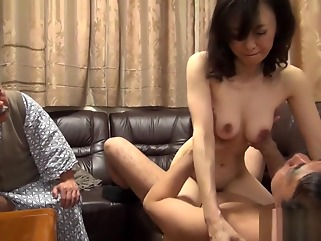 threesome big tits blowjob